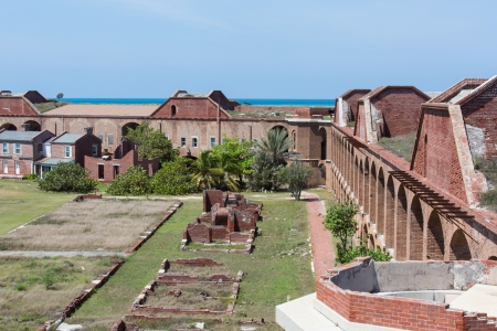 fort jefferson: Garden Key in the Dry Tortugas is the site of the historic Fort Jefferson. Stock Photo