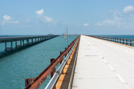 key west: The Seven Mile bridge was built by Henry Flagler as part of the Overseas Railroad to Key West. Stock Photo