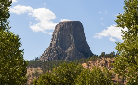 Devils Tower National Monument, Wyoming Banque d'images - 20014580