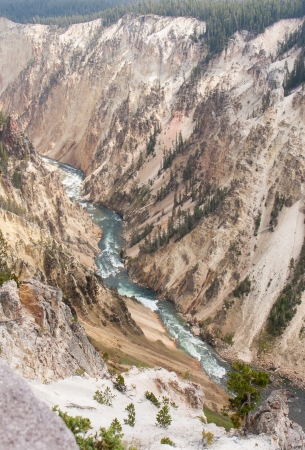 noted: Yellowstone National Park has its own Grand Canyon noted for picturesque pastel colors.