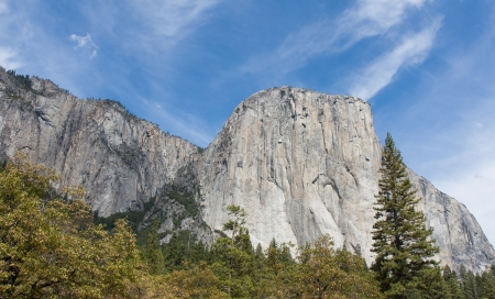 el capitan: The magnificent El Capitan at Yosemite National Park in California Stock Photo