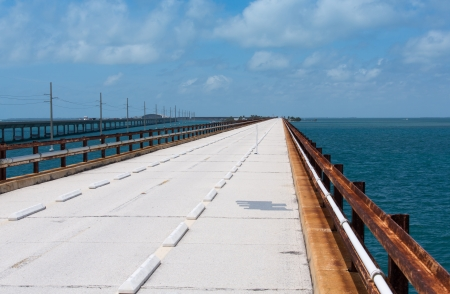 ceased: The original Seven Mile Bridge is a converted railroad bridge after the the railroad ceased in 1935. The handrails are the actual original rails.