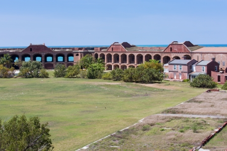 fort jefferson: This is an image from the inside of Fort Jefferson at the Dry Tortugas. Stock Photo