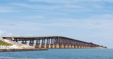 oversea: This is the Bahia Honda bridge, nicknamed the Camelback Bridge, which once was part of the Oversea Railroad and later the Overseas Highway in the Florida Keys.