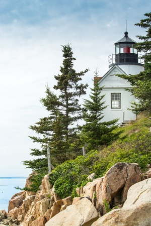 The Bass Harbor Light Station was built in 1858 and is one of several working stations around the Mount Desert Island in Maine  photo