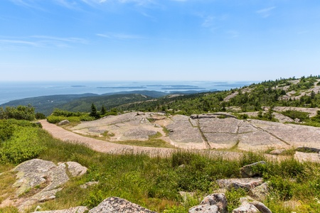 This image is of Cadillac Mountain in Acadia National Park. It rises 1500 feet above sea level. photo