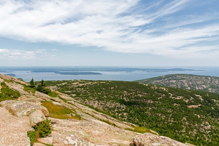 view of the Atlantic from Mount Desert Island named so because of the rocky mountaintop. photo
