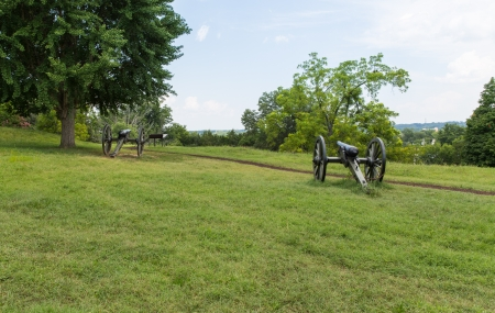 The Confederates placed cannon on this hill overlooking the sunken road during the Battle of Fredricksburg.