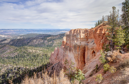 Bryce Canyon National Park consists of a series of horseshoe-shaped amphitheaters carved from the eastern edge of the Paunsaugunt Plateau  This particular location is Black Birch Canyon