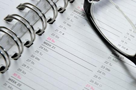 appointment book: Agenda Stock Photo