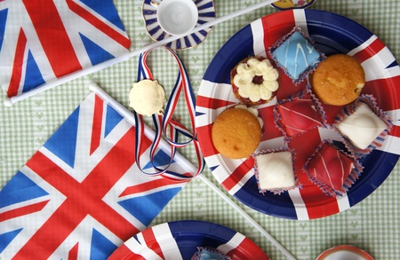 bandiera inglese: grande t� pomeridiano inglese