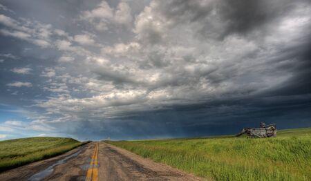 Storm Clouds Prairie Sky Saskatchewan Canada Stock Photo - 8325826
