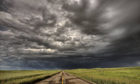 Storm Clouds Prairie Sky Saskatchewan Canada Stock Photo - 8325860