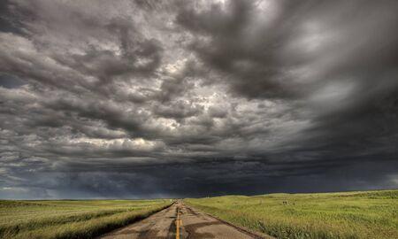 Storm Clouds Prairie Sky Saskatchewan Canada Stock Photo - 8325860