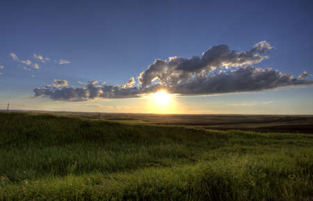 Storm Clouds Prairie Sky Saskatchewan Canada Stock Photo - 8325830