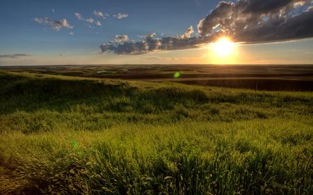 Storm Clouds Prairie Sky Saskatchewan Canada Stock Photo - 8325862