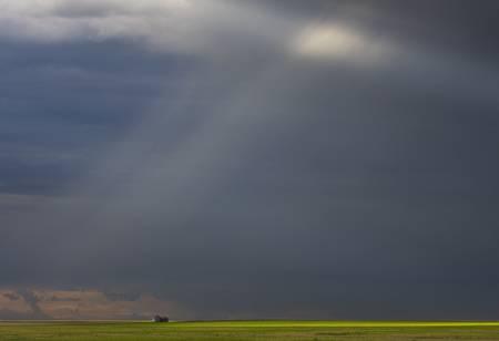 Storm Clouds Prairie Sky Saskatchewan Canada Stock Photo - 8325814