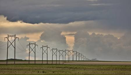 Storm Clouds Prairie Sky Saskatchewan Canada Stock Photo - 8325823