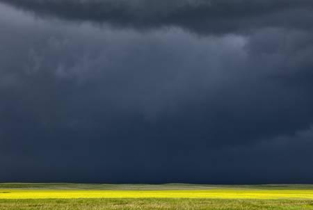 Storm Clouds Prairie Sky Saskatchewan Canada Stok Fotoğraf