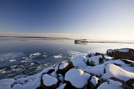 Lago superior en invierno Foto de archivo - 8347776