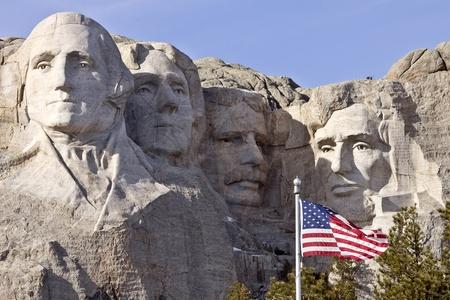 presidents': Mount Rushmore South Dakota Black Hills Editorial