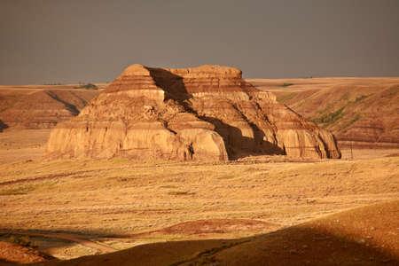 Castle Butte in Big Muddy Valley of Saskatchewan photo