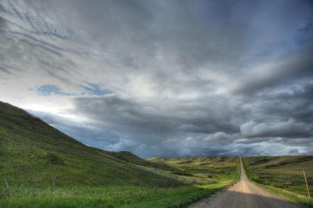 Storm clouds in Saskatchewan photo