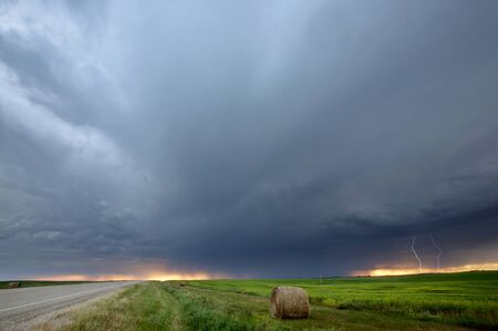 Storm clouds over Saskatchewan Stock Photo - 8393014