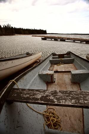 docked fishing boat at Herb Lake Landing Stock Photo - 8425858