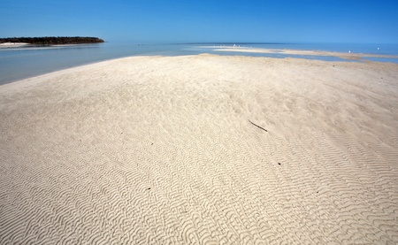 Sand flats along shore of Lake Winnipeg Stock Photo - 8418998