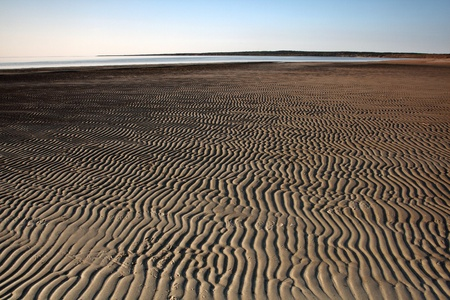 lake winnipeg: Sand flats along shore of Lake Winnipeg