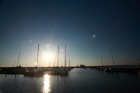 lake winnipeg: Sunrise at Gimli Marina on Lake Winnipeg