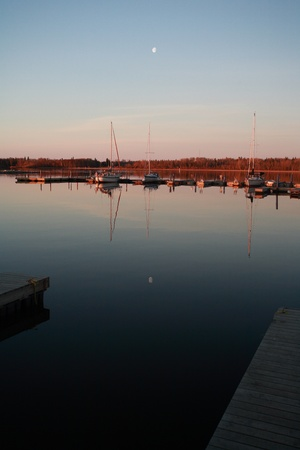 lake winnipeg: marina at Hecla in Manitoba