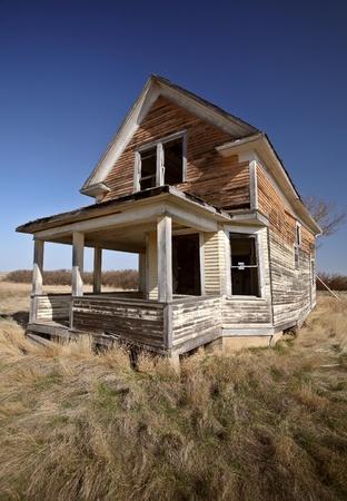 Old abandoned Saskatchewan farmhouse photo