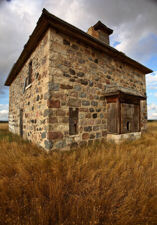 Abandoned stone house in scenic Saskatchewan Stock Photo - 8451202