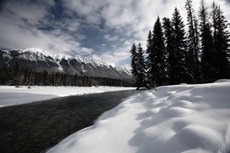 snow capped: Open water in winter