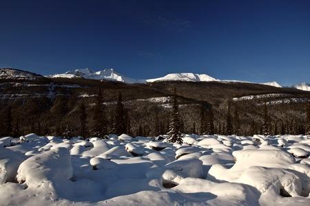 rocky mountains: Rocky Mountains in de winter Stockfoto