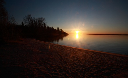 lake winnipeg: Sunset Lake Winnipeg Manitoba Hecla Island