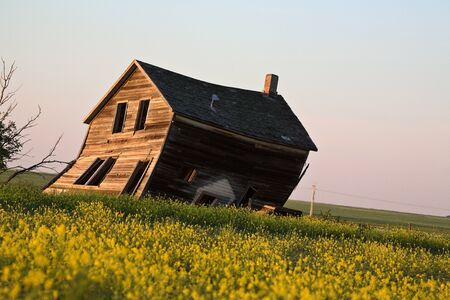 Weathered old farm house in scenic Saskatchewan Stock Photo - 8458955