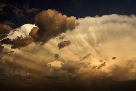 Nasty looking cumulonimbus cloud overhead