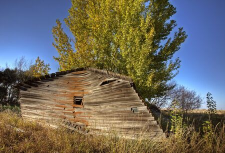 Old Rustic Granary storage Saskatchewan Canada photo