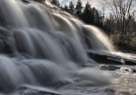 Northern Michigan UP Waterfalls Upper Peninsula Autumn Fall Colors Stock Photo - 8482574