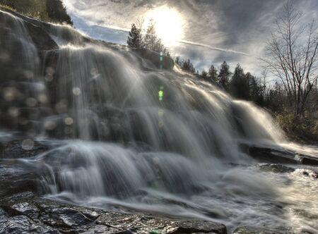 Northern Michigan UP Waterfalls Upper Peninsula Autumn Fall Colors Stock Photo - 8482393