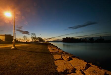 dinghies: Sunrise Escanaba Michigan Marina Lake Michigan Dawn
