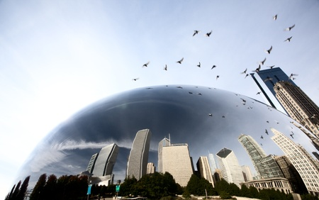 Chicago Cityscape downtown Millenium Park Michigan Avenue The Bean photo