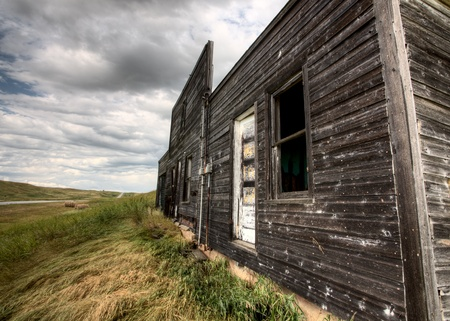 Abandoned Farmhouse Saskatchewan Canada sunset and prairie view photo