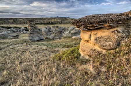 hoodoo: Hoodoo Badlands Alberta Canada Writing on Stone Park