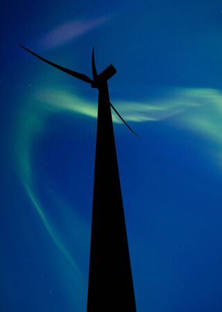 Wind farm south of Gull Lake Saskatchewan photo