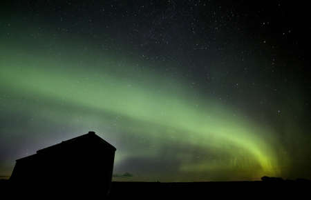 Northern Lights Saskatchewan Canada green color and shape photo