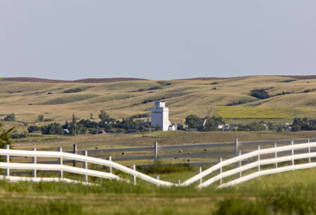 Prairie Town With Elevator Saskatchewan Parkbeg Canada photo